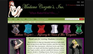 screenshot-website design-Madame Corzettes